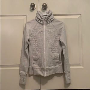 Lululemon White Gray Jacket